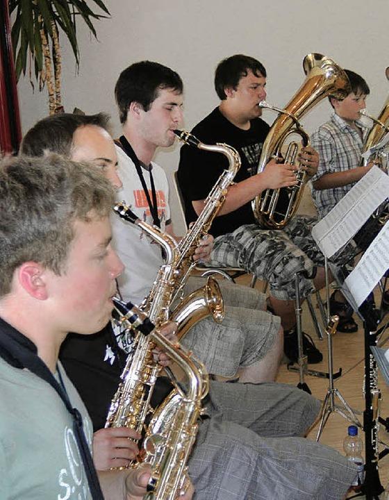 Der Jungmusiker-Tag endete mit einem Konzert.  | Foto: Andreas Böhm