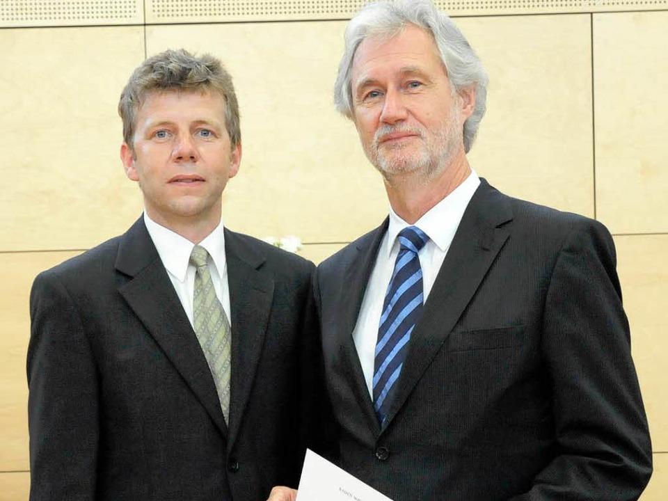 Regierungsschuldirektor Thomas Hecht (...iziell in den Ruhestand versetzt wurde  | Foto: Markus Zimmermann-Dürkop