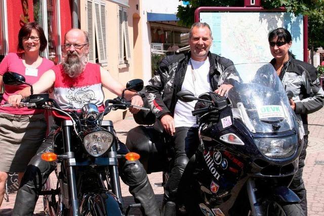 Nach 4972 Kilometern im Etappenziel Breisach
