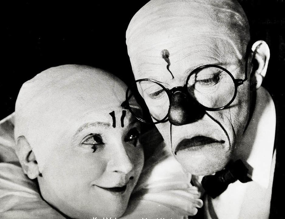 Artisten unter der Zirkuskuppel: Karlstadt und Valentin    Foto: valentin-karlstadt-musäum
