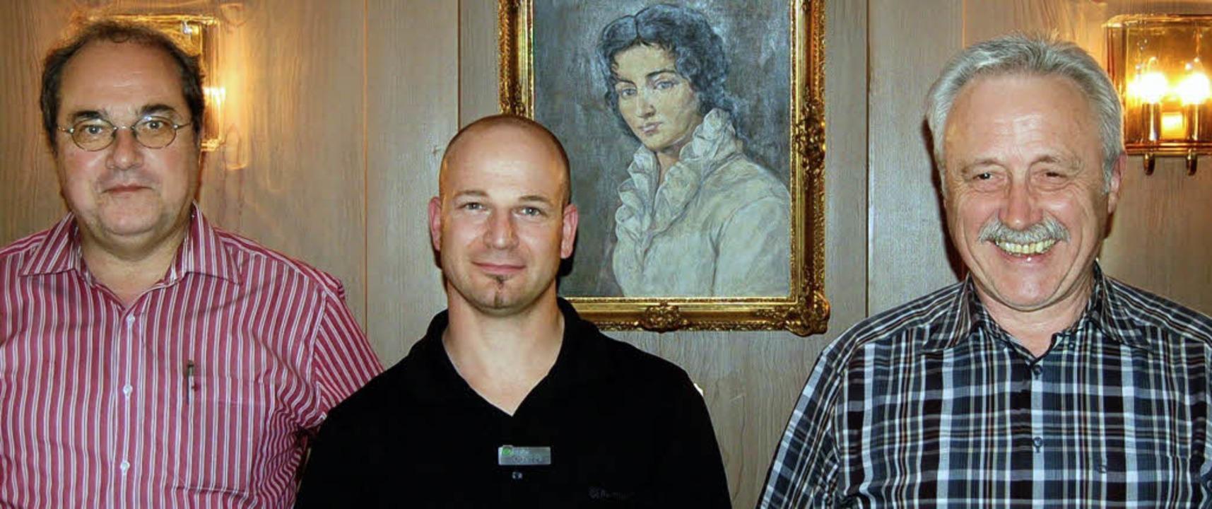 Für ihren langjährigen Einsatz beim Ge...ller, Anton Maier geehrt (von links).   | Foto: Paul Berger