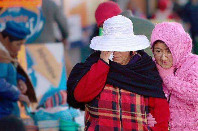 Eiseskälte in Südamerika