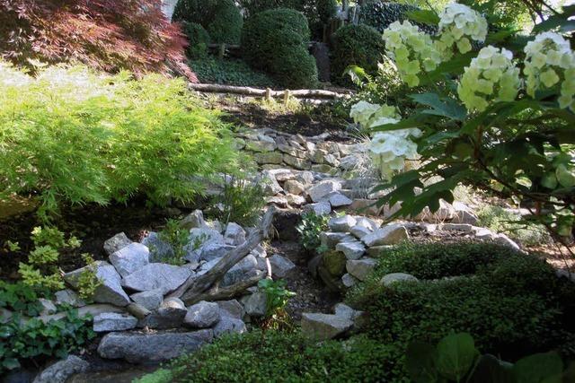 Ein Paradies mit Bach und Teich