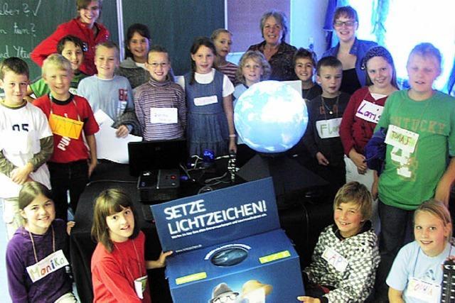 Klimamobil zu Gast bei der Grundschule Wiechs