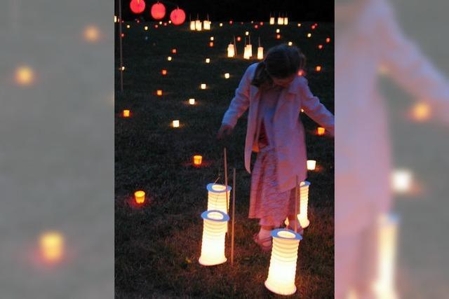 Weniger Gedränge beim Lichterfest im Bad Bellinger Kurpark