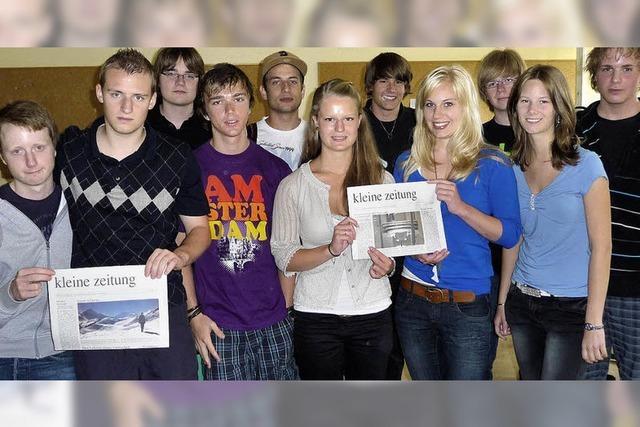 Die Schüler mit der Wirtschaft vertraut machen