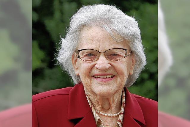 Luise Obrecht wird heute 90