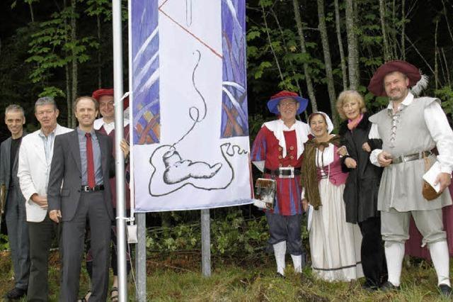 Flagge nimmt Bezug auf Bauernkrieg
