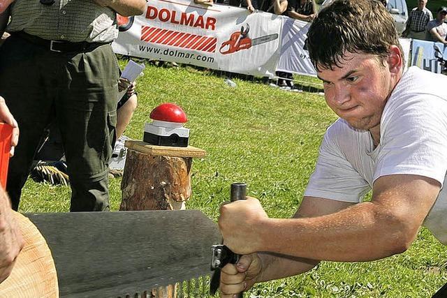 Holzfällermeisterschaft - ein Turnier für echte Männer