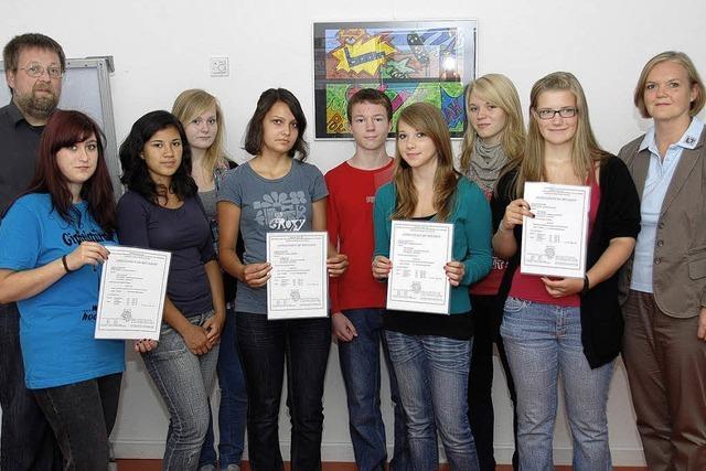 Diplome an Sprachtalente