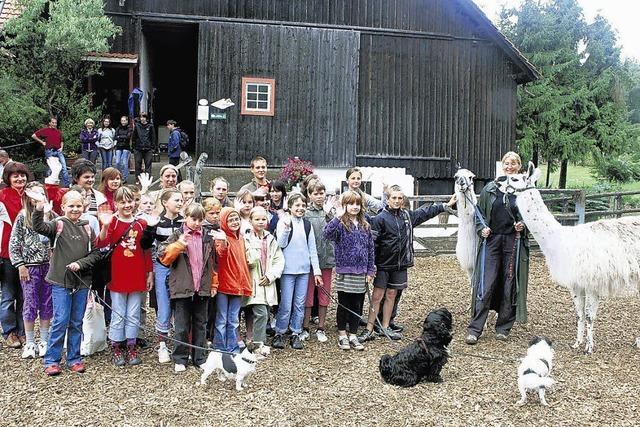 32 weißrussische Kinder auf Urlaub am Hochrhein