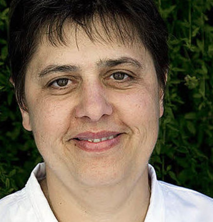 "Frankophile Chefin: Dominique Gutleben  vom ""Rebstock""  | Foto: Michael Wissing"