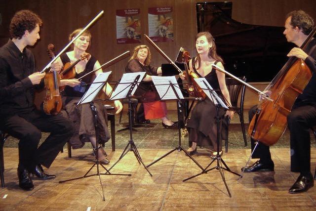 Ein liebendes Cello, das von Geigen verhöhnt wird