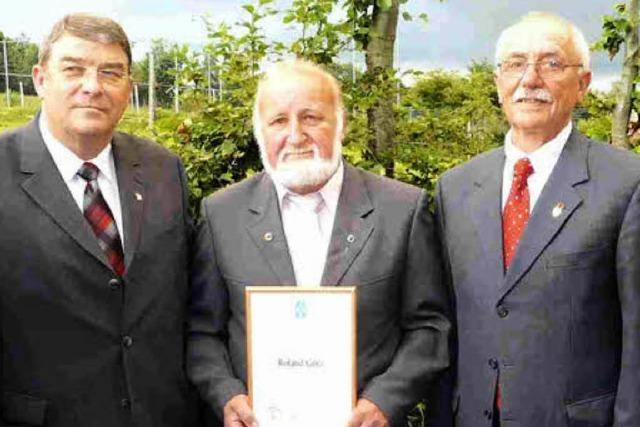 Verband würdigt besondere Leistung von Roland Götz