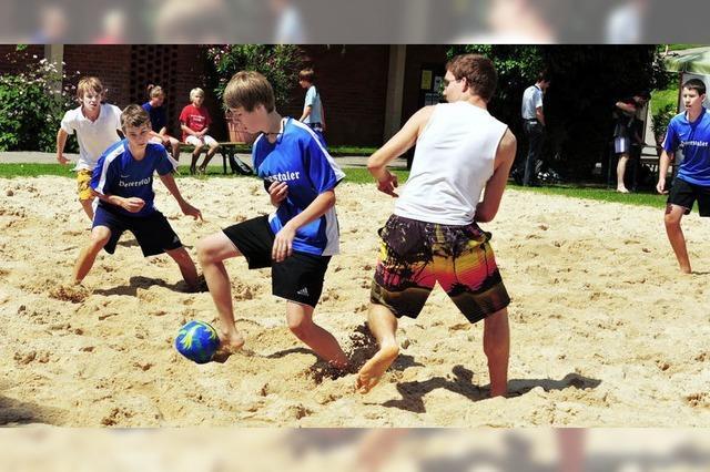 Kicken wie am Sandstrand