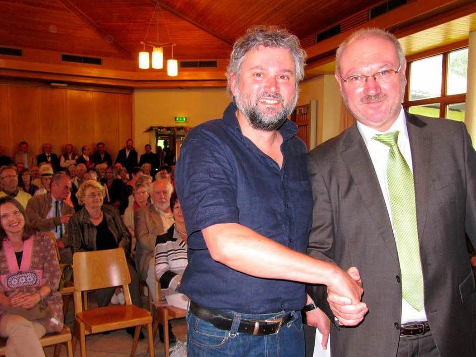Peter Schütz und Claus Eckerle von der... (von links) bei der Preisverleihung.   | Foto: Susanne Filz