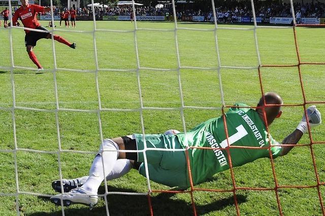 Der SC Freiburg unterliegt Ingolstadt beim Kaiserstuhlcup