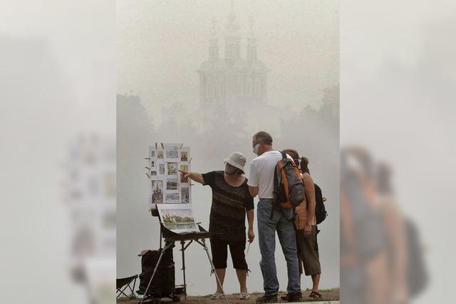 Waldbrände: Moskau geht die Luft aus