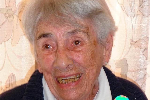 Ilse Robaschik blickt auf 100 bewegte Jahre zurück