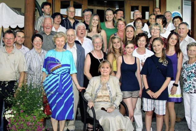 Familientreffen mit Gästen aus Amerika