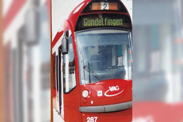 Straßenbahn in Gundelfingens Mitte