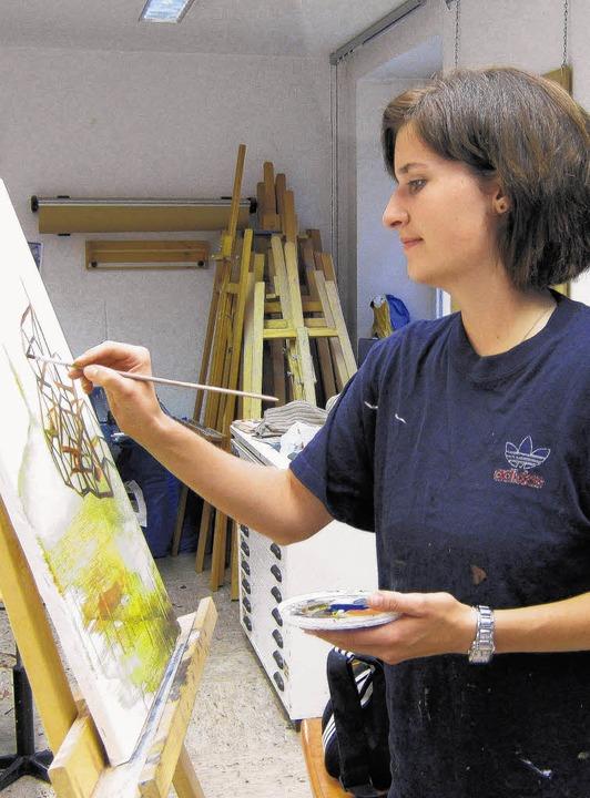 Vera Kindler aus Mundelfingen  beginnt...ie der bildenden Künste in Karlsruhe.     Foto: BZ