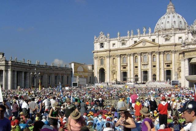 Seifenblasen und Papstaudienz