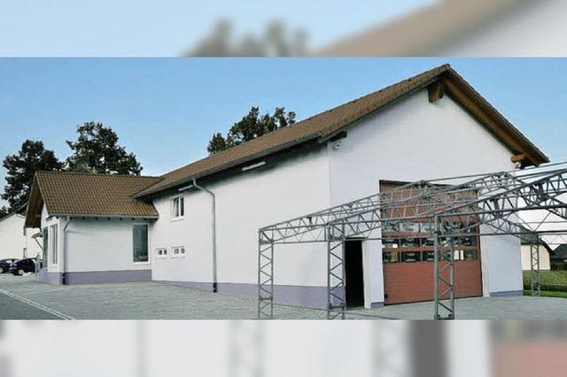 Gerätehaus wird eingeweiht
