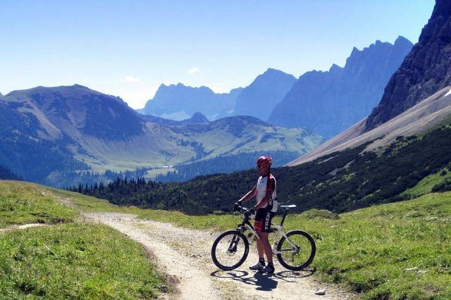 Toll für Mountainbiker: Mittenwalder Karwendelrunde