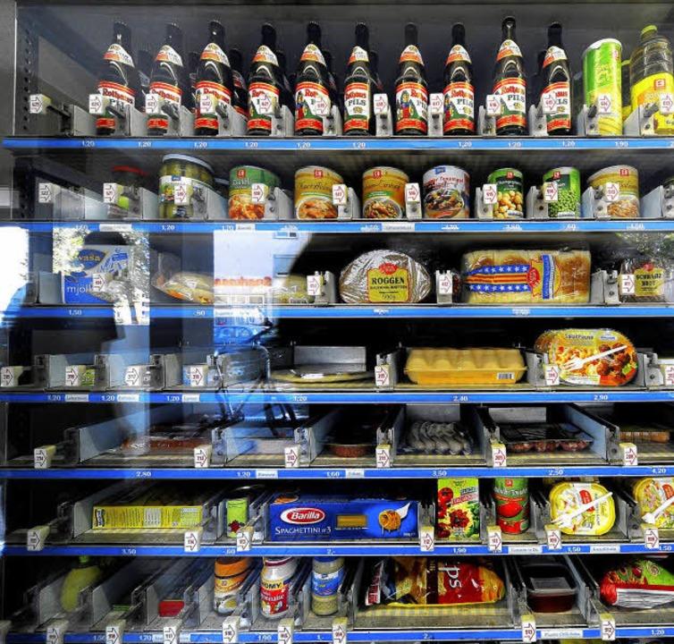 Lebensmittel rund um die Uhr: die Automaten-Emma.   | Foto: Thomas Kunz