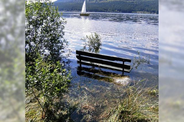 Der See schluckt die Badeplätze