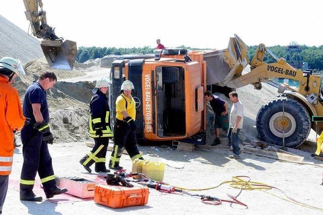 Arbeitsunfall im Kieswerk am Waldmattensee