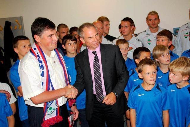 Ringer aus Moldau in Eschbach begrüßt