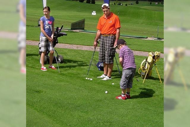 Kleinste Golfer ganz groß