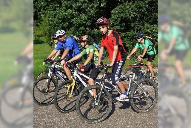 Eine Radtour mit dem Skiclub