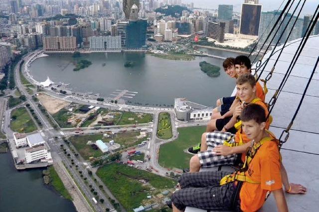Öflinger Radballer bei Hongkong Open