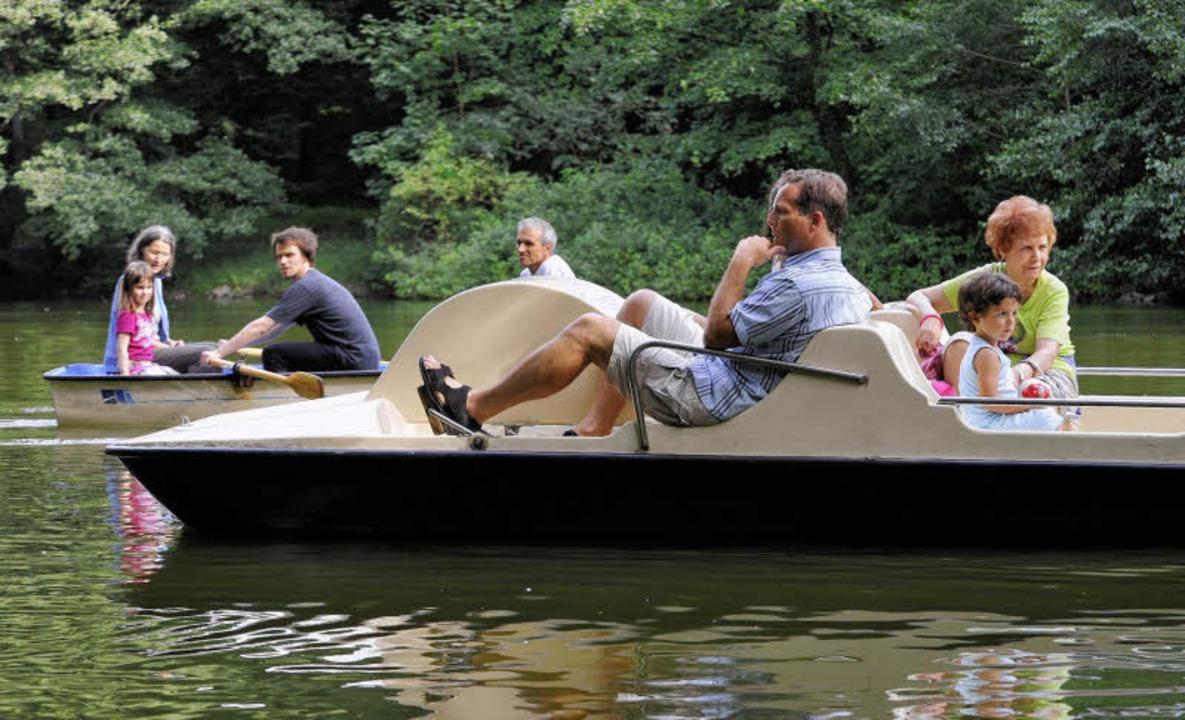 Kleine Auszeit: Bootspartie auf dem Waldsee.   | Foto: Michael Bamberger