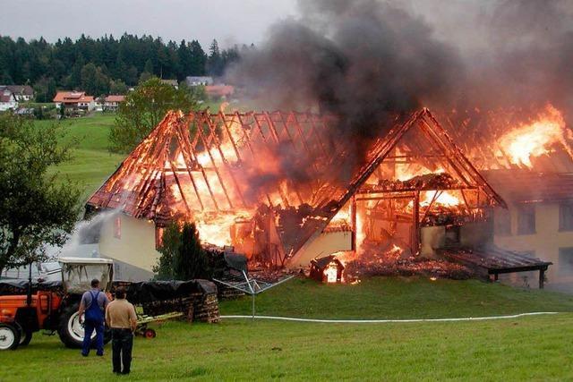 Leichtsinn löst Großbrand in Rickenbach aus