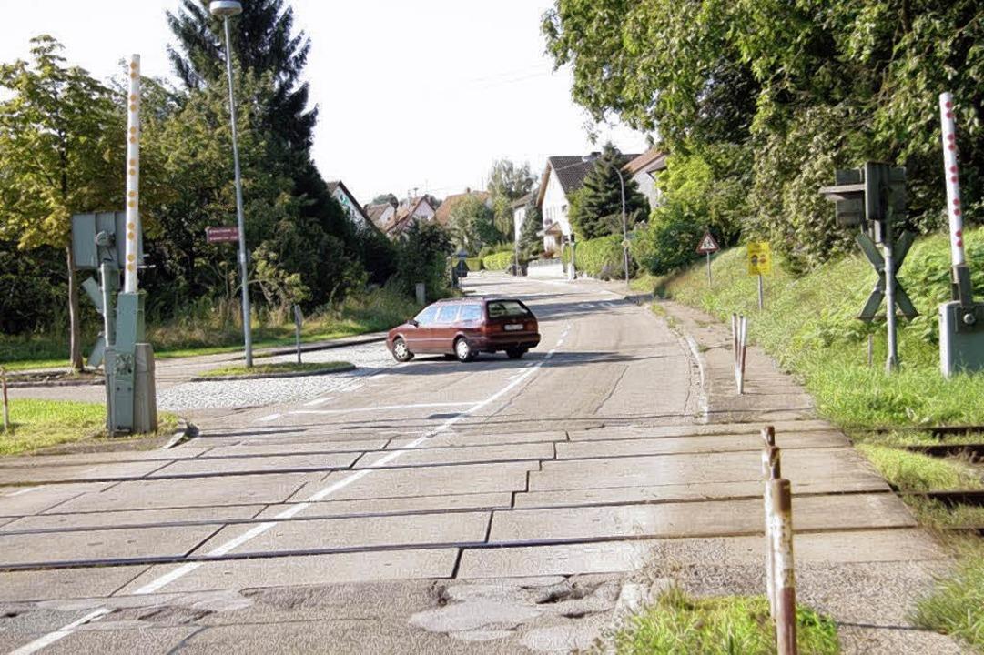 Die Bötzinger Straße in Gottenheim wir...Auto hier abbiegt, umgeleitet werden.   | Foto: privat