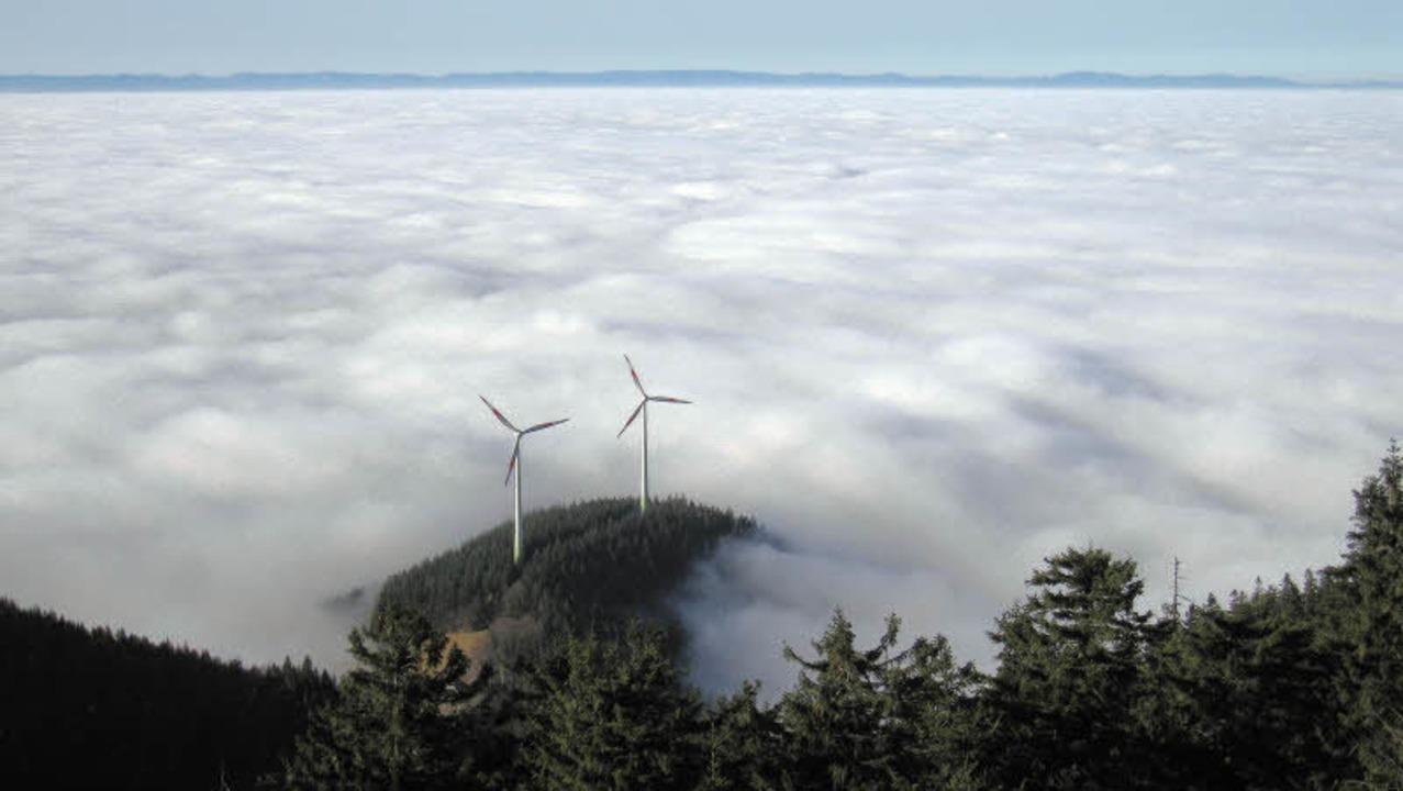 Inversionswetterlage: Da drunter irgen...Freiburg, da hinten sind die Vogesen.   | Foto: Heinz Ney