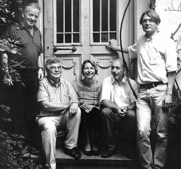 Das Stroemfeld-Kollektiv: Michael Lein...uble und  Alexander Losse (von links)     Foto: nationalbibliothek