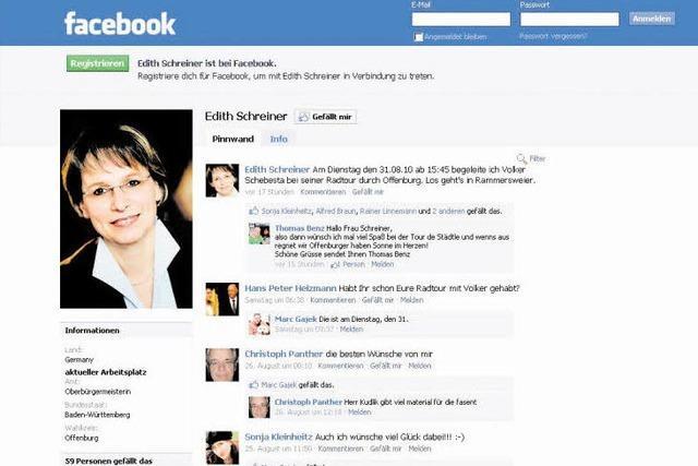 Interview mit OB Edith Schreiner über ihr Facebook-Profil