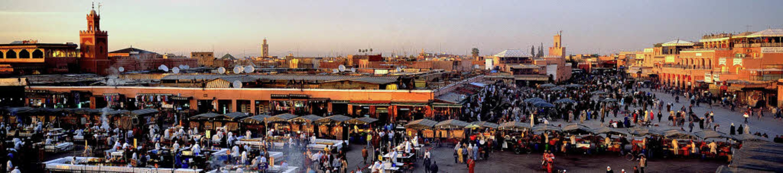 Budenzauber: Am Abend verwandelt sich der Jemaa el Fna in eine Garküche.  | Foto: Fremdenverkehrsamt
