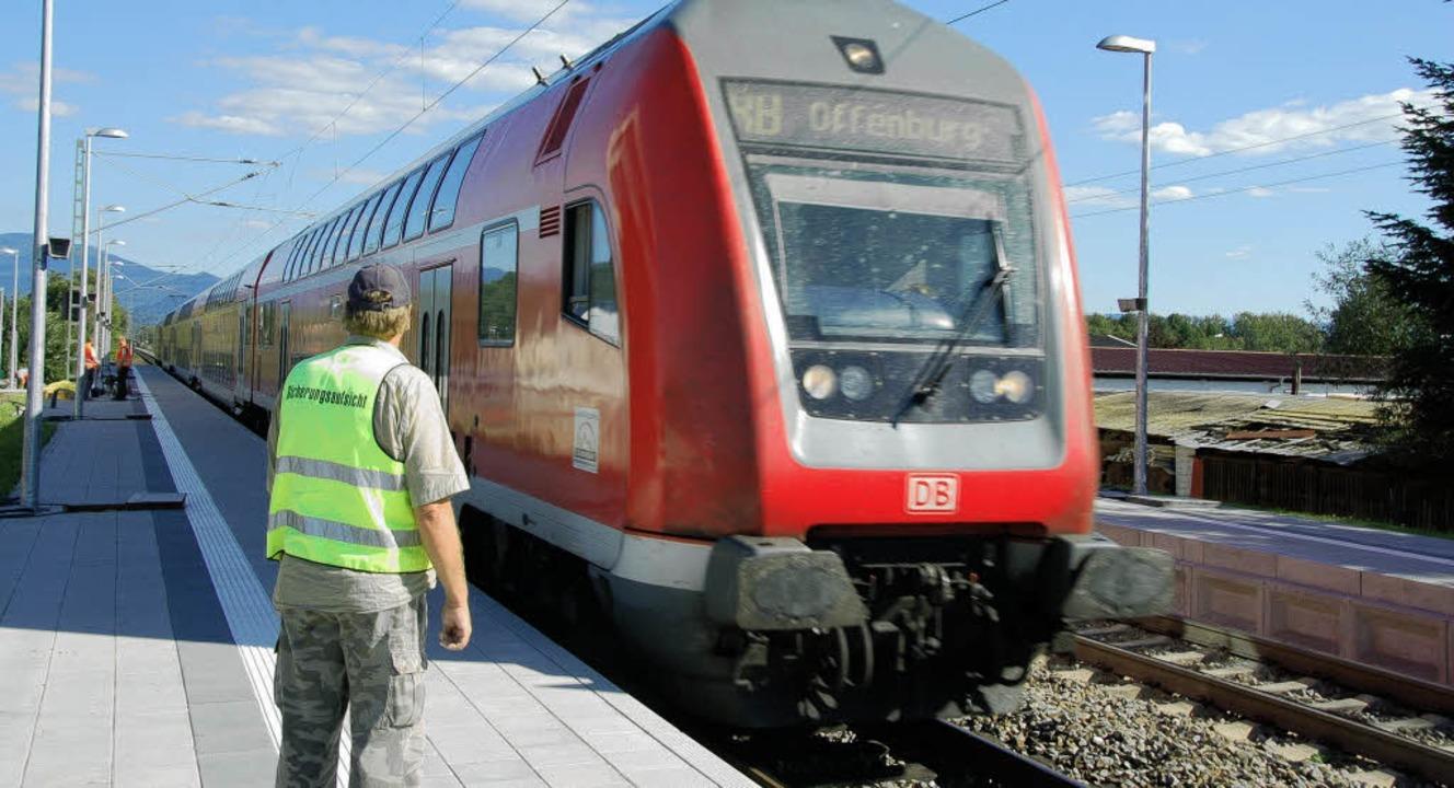 Bald halten die ersten Züge am neuen Bahnhaltepunkt Teningen-Mundingen.   | Foto: Hans-Jürgen Truöl
