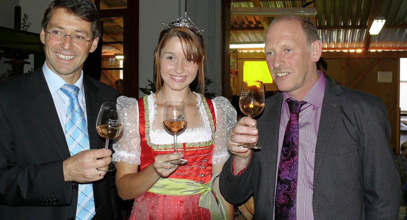 Bruno Metz,  die Breisgauer Weinprinze...n am Samstagabend  die Weintage 2010.   | Foto: adelbert Mutz