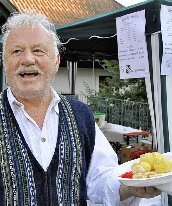 Die Vorfreude auf den kulinarischen Ge...er  deutlich ins Gesicht geschrieben.   | Foto: antje dröse