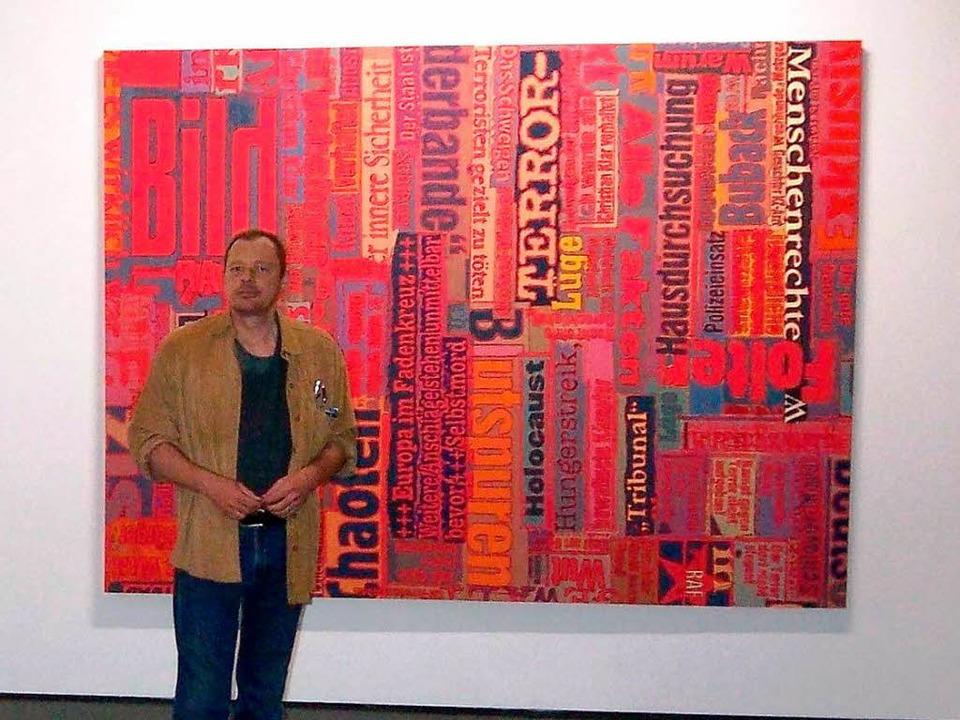 Der Karlsruher Künstler Wolf Pehlke so...ekommen. Er lehnte jetzt dankend ab.    | Foto: Harald Haeuser