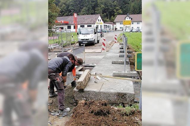 Baustelle behindert den Schulweg