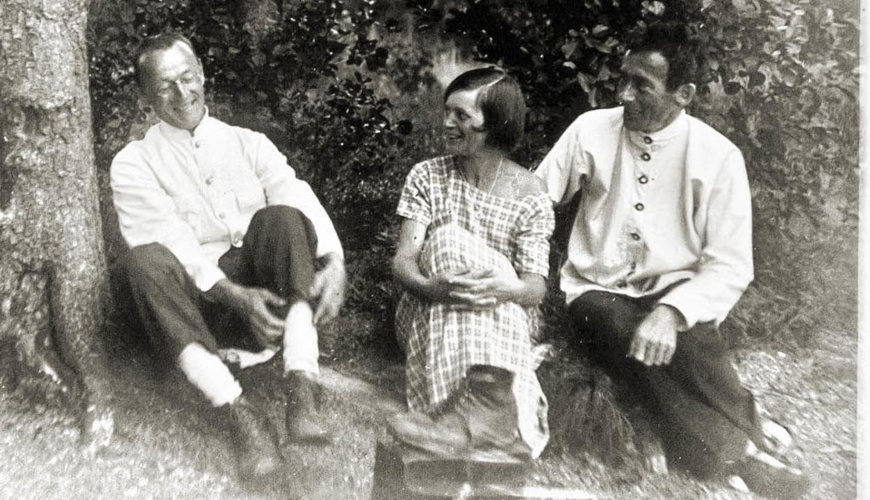Entspannt in der Natur:  Hermann Hesse...go Ball 1921 beim Ausflug nach Carona     Foto: DLA