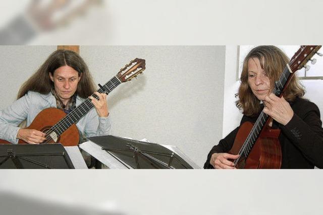 Tag der Jüdischen Kultur: Gitarrenensemble Jeanette Bastian und Ilse Breitruck-Colares